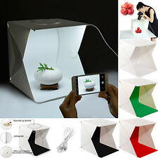LED Lighting Mini Portable Folding Studio Photography Tent Kit Backdrop Cube Box