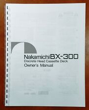 Nakamichi BX-300 Cassette Deck Owners Manual