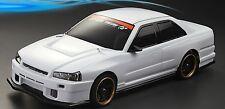 1:10 Lexan BODY/Carrosserie Nissan Skyline r34 (Clear + décalques)