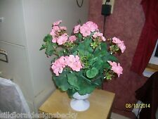 Floral Arrangement  -  Pink Geraniums