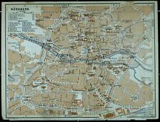 NÜRNBERG, alter farbiger Stadtplan, datiert 1913