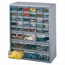 Large Plastic 39 Compartment Storage Cabinet Drawer Box Organizer Tools Parts
