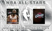 NBA All Stars Lebron James Cleveland Cavaliers Silver stamp