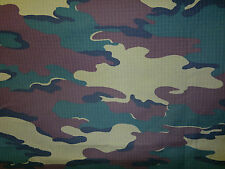 Belgium           Army green camouflage Poly /  Cotton blend fabric