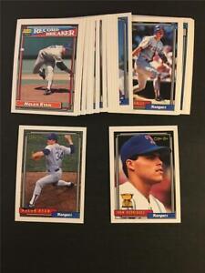 1992 OPC O-Pee-Chee Texas Rangers Team Set 30 Cards