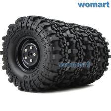 4 Stück RC Rock Crawler 1.9 Super Swamper Reifen Tires 110mm & 1.9'' Felge Wheel
