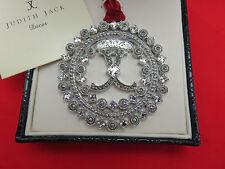 Judith Jack Christmas Holiday Ornament Snowflake Marcasite Crystal Logo 407h