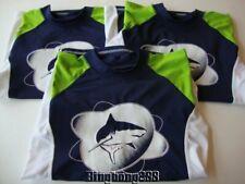 THE CHILDREN'S PLACE TCP Blue Green Shark Swim Tops Shirts Rash Guards Boy XL 14