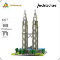 Architecture Kuala Lampur Petronas Tower Mini Diamond Building Nano Blocks Toy