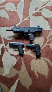 Crossman Z77 Uzi BB Gun With Folding Stock & TWO PISTOLS
