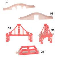 Wooden Train Track Railway Accessories Big Rainbows Bridge Track Bridge Pie RAC