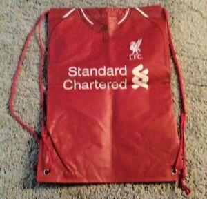 Brand New Liverpool FC LFC Drawstring Bag - Red Home Shirt Design - H48xW33cm