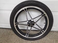 1982 HONDA ASCOT FT500 - FRONT WHEEL AND TIRE