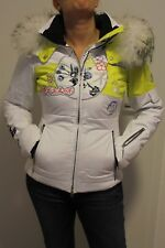 Sportalm Kitzbühel Damen Ski Jacke Manga Style mit Echtfell Gelb Größe 36 S Neu
