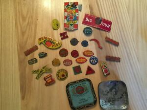 27 Vintage Tobacco Tabs Tags Found inside a Carter's Ideal Typewriter Tin