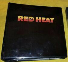 RED HEAT original PRESS KIT BINDER and tape 26 PHOTOS SCHWARZENEGGER BELUSHI