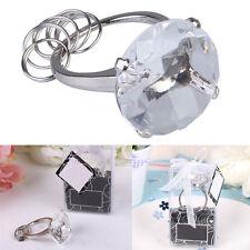 Super Big Diamond Crystal Ring Keychain Romantic Wedding Favors Party WhiteColor