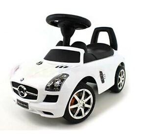 Rutschauto Rutscher Mercedes-BENZ SLS AMG Kinder Auto Baby Car mit Sound (WEISS)
