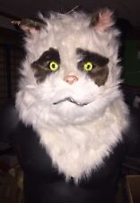 "Realistic Cat Mask With Moving Mouth Jaw Moves As You Speak NWT ""Grumpy Cat"""