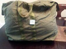 Military Flyers Kit Bag, Pilots Flight Duffel, OD Green canvas USAF Army