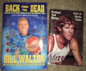 Lot Of Two Bill Walton Memorabilia: 1974-75 Media Guide & Book