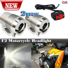 2PCS Motorcycle CREE U2 30W LED Driving Headlight Fog Spot Light For BMW Silver