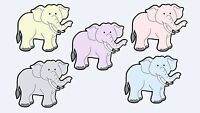 "Die Cuts Set of 10 Elephants 3"" Scrapbooking, Baby Shower & Card Decorations"