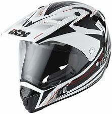 *SALE* IXS 12011 Helm HX297 Cross Offroad Quad mit Visier ROUTE ws/sw/rot XL