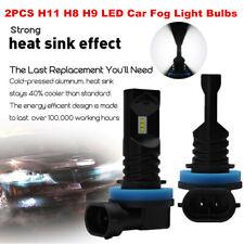 2PCS H11 H8 H9 LED Fog Light Bulbs Car Driving Daytime Running Lamp 6000K White