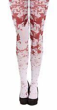 Halloween Women's Blood Splatter Stained Tights Zombie Nurse Fancy Dress Costume