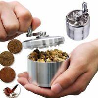 4-Piece Herb Grinder Spice Tobacco/Weed Smoke Zinc Alloy Crusher Leaf Design