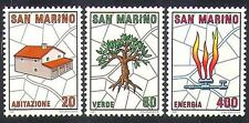 San Marino 1981 Urban Development/Tree Planting/House/Gas/Energy 3v set (n37023)