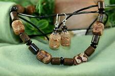 Australian Ironstone, Smokey Quartz Necklace & Earrings
