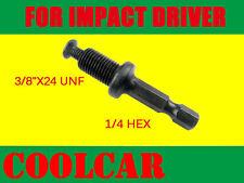 DRILL CHUCK 3/8 Hex ADAPTER & SCREW For Makita Bosch Ryobi Dewalt Impact Driver