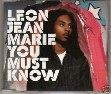 (H862) Leon Jean Marie, You Must Know - DJ CD