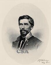 Major General Patrick R. Cleburne, CSA Engraving • ßigned