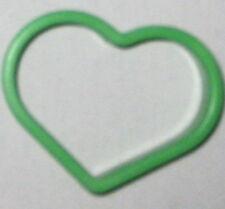 """Green 2 1/4"""" Heart Cookie Cutter Art Mold"""