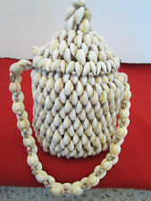 "Nautical,"" Fiji"" Seashell Purse Of 300 Shells"