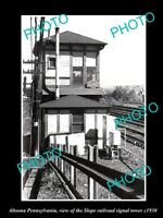 OLD LARGE HISTORIC PHOTO OF ALTOONA PENNSYLVANIA THE SLOPE RAILROAD TOWER c1930