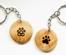 Personalised Pet Keyring Paw Memorial Gift Dog Cat Loss Customised with Name