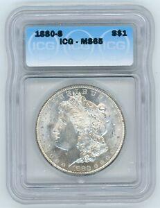 1880-S Morgan Silver Dollar ICG MS65