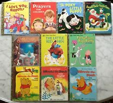 Lot of 10 Little Golden Books Pre-owned Mostly 1960's~1970's~1980's