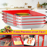 4pcs Creative Food Preservation Tray Healthy Kitchen Tools Storage Container Set