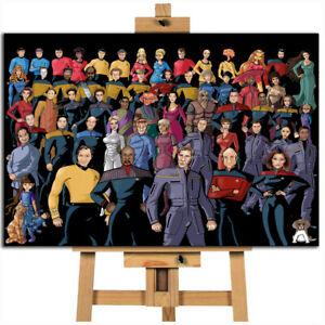 Star Trek crew canvas wall art print