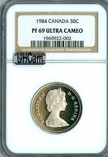 1984 CANADA 50 CENTS NGC MAC PR69 UHCam ULTRA HEAVY CAMEO SPOTLESS *