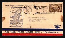 Canada 1930 FFC Moose Jaw to Regina - L2082