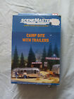 WALTHERS SCENEMASTER HO SCALE CAMP SITE WITH TRAILERS/ACCESSORIES open box