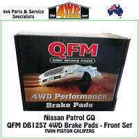 QFM DB1257 4WD BRAKE PADS FRONT PAIR suit NISSAN GQ Y60 PATROL Twin Piston
