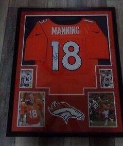 🔥 PEYTON MANNING Denver Broncos Framed Autograph Signed Jersey COA Steiner🔥