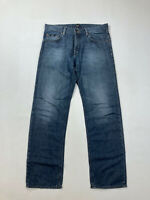 HUGO BOSS MAINE REGULAR FIT Jeans - W34 L32 - Navy - Great Condition - Men's